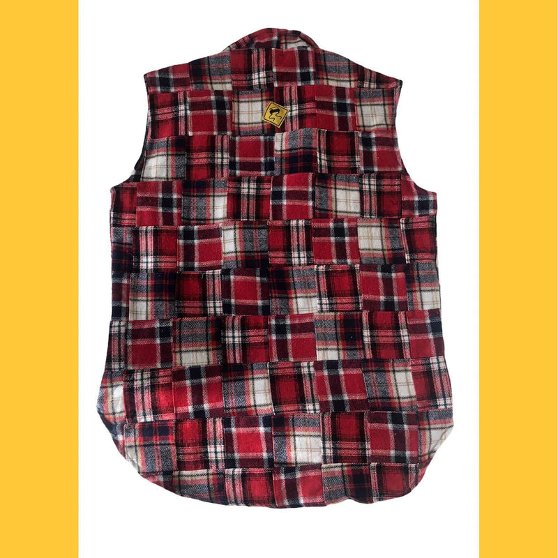 Patchwork Shirt Vest - Blue - SKIDZ NYC