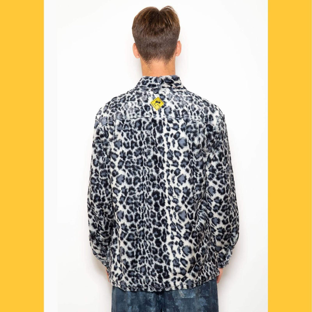 Smoking Jacket - Snow Leopard Faux Fur - SKIDZ