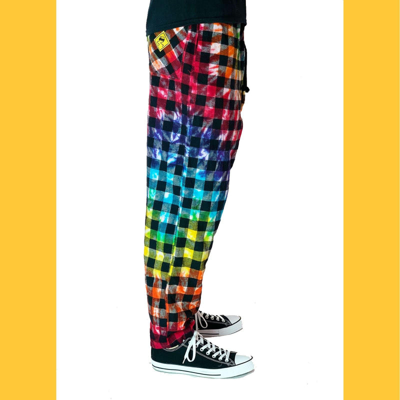 SKIDZ NYC Pants Skidz Original Tie-Dye Big Check