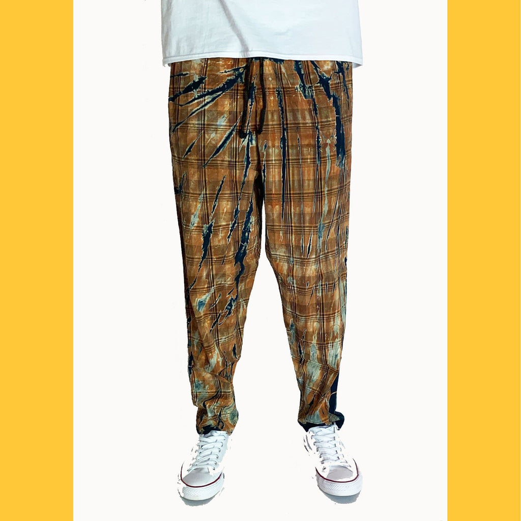 Whiskey Tie-Dye Plaid (RESTOCKED) - SKIDZ NYC