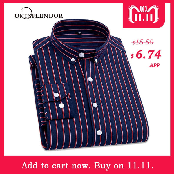 9ac88bd37c9 2018 Men Striped Shirts Casual Long Sleeved Mens Shirt 4XL Plus Size  Business Man Shirt Male ...