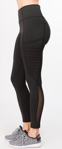 Black Athletic Leggings with Pocket