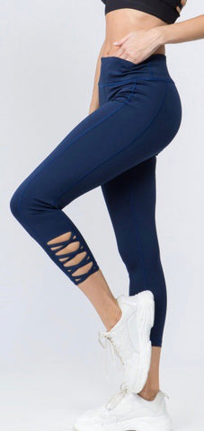 Navy Blue Athletic Leggings