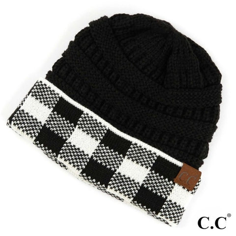 Buffalo Check Pattern Beanie
