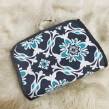 Grey and mint toiletries bag