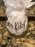 Personalized stemless wine cups