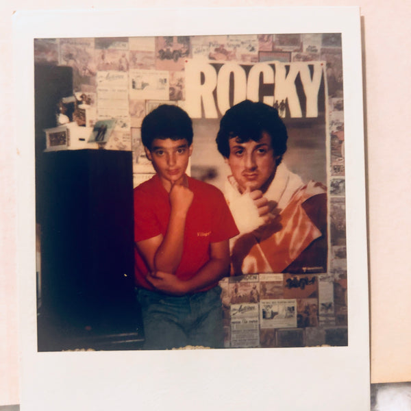 John at age 11 posing with ROCKY