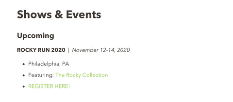 New Icons In Art Rocky Website
