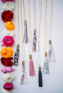 SOLID TASSEL NECKLACES