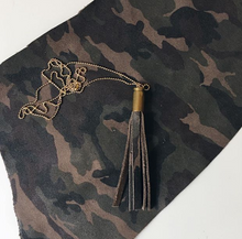 Load image into Gallery viewer, PRINTED TASSEL NECKLACE