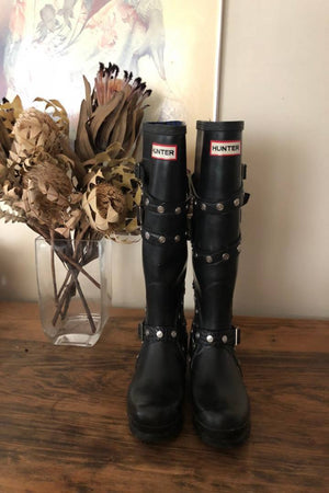Vintage Hunter Festival Limited Edition Studded Tall Gumboots