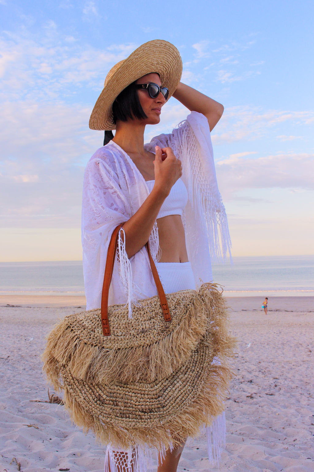Oversized Raffia Beach Bag