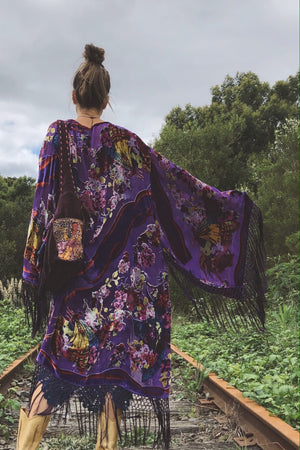 Butterfly Of The Night Wide Sleeve Kimono