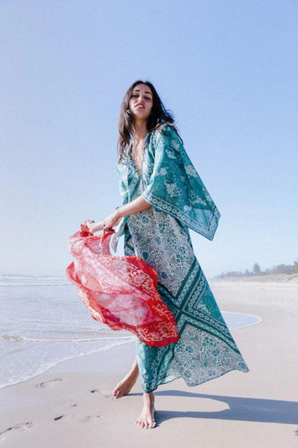 Golden Brown The Label - Into the Mystic Kaftan ~ Teal
