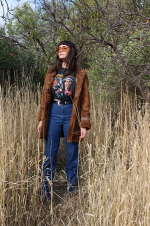Vintage 1990s Native American Indian Motorcycle T-shirt