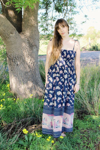 Bohemian Womens Maxi Dresses - Boho Hippie Gypsy Maxi Dresses -Bohemian Festival Long Dress - Downton Abbey Dresses - Boho Cotton Maxi Dress