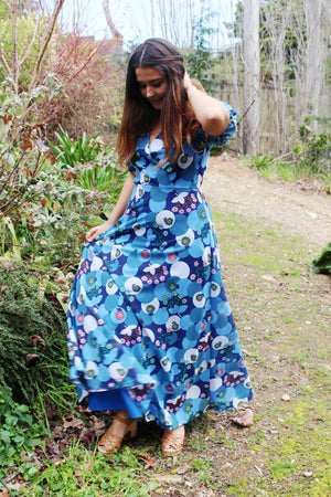 Bohemian Beach Wedding - Rustic Maxi Dress - Bridesmaid Maxi Dresses Beach - Vintage Rustic Bridesmaid Dress - Floral Maxi Dress Wedding -