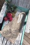Produce Bag - Eco Cotton Tote - Crochet Market Bag - Crochet Beach Bag - Macrame Bag - Vacation Tote Bags - Girlfriend Bohemian Gift