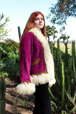 Shearling Afghan Coat - Embroidered Shearling Coat - Vintage Shearling Coats - Penny Lane Coat - Sheepskin Coat - Almost Famous Coat
