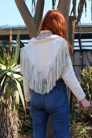 Boho Fringe Jacket - Fringe Leather Jacket - Festival Jacket - Gypsy Leather Coat - Bolero Jacket - Leather Fringe Jacket - Bomber Jacket -