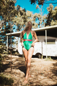 One Piece Swimsuit - Rave Bodysuit - Sexy Bodysuit - Women Swimwear - Polka Dot Swimsuit - Halter Swimwear - Boho Swimwear - Sexy Swimwear