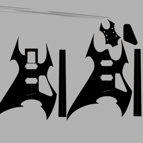B.C. Rich Beast Guitar Template Style MDF 0.50""