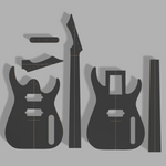 "Blackmachine B7 25.5"" Scale Guitar Template MDF 0.50"""