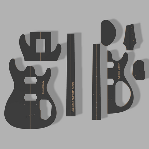 Ibanez SZ320 Style Guitar Template MDF 0.50""