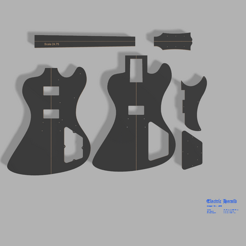 "Gibson RD 79"" Style Guitar Template MDF 0.50"""