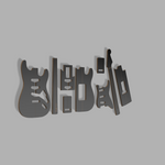 Stratocaster Guitar Style Template MDF 0.50""