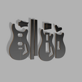 PRS Custom 22 Style Guitar Template MDF 0.50""