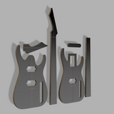 "Blackmachine B7 26.5"" Scale Guitar Template MDF 0.50"""