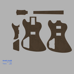 Gibson RD 79 Style Guitar Template MDF 0.50""