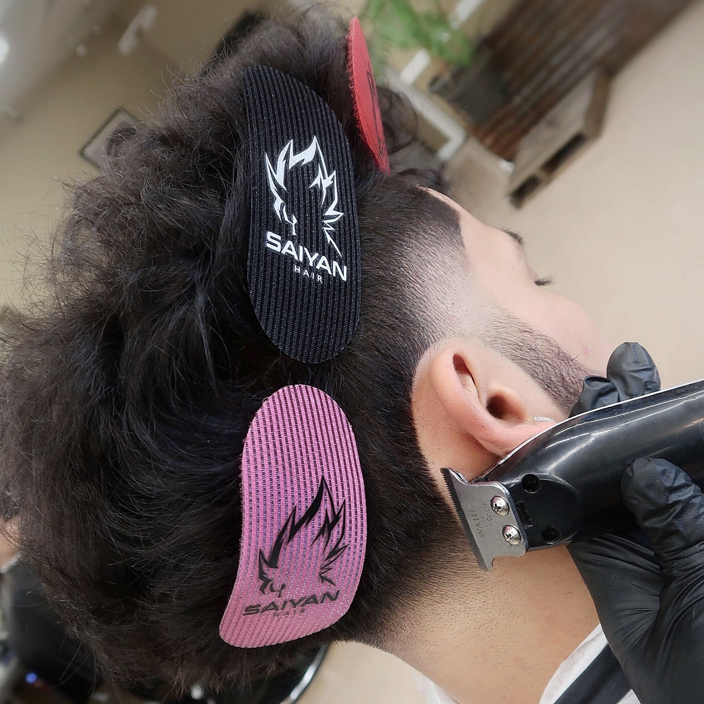 SAIYAN SET OF HAIR GRIPPERS W/ FADE BRUSH INCLUDED!