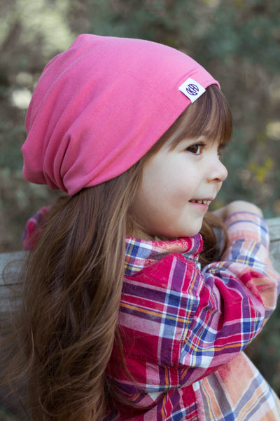 Bubble gum pink beanie - Kristian Haris Apparel, Kids Beanies, Kids shirts, Childrens clothing