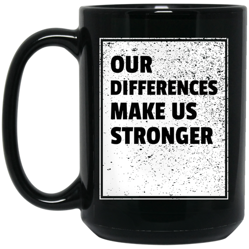 Our Differences 15 oz. Black Mug