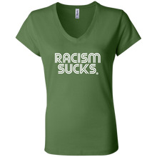 Racism Sucks Ladies' Jersey V-Neck T-Shirt - Choose a color