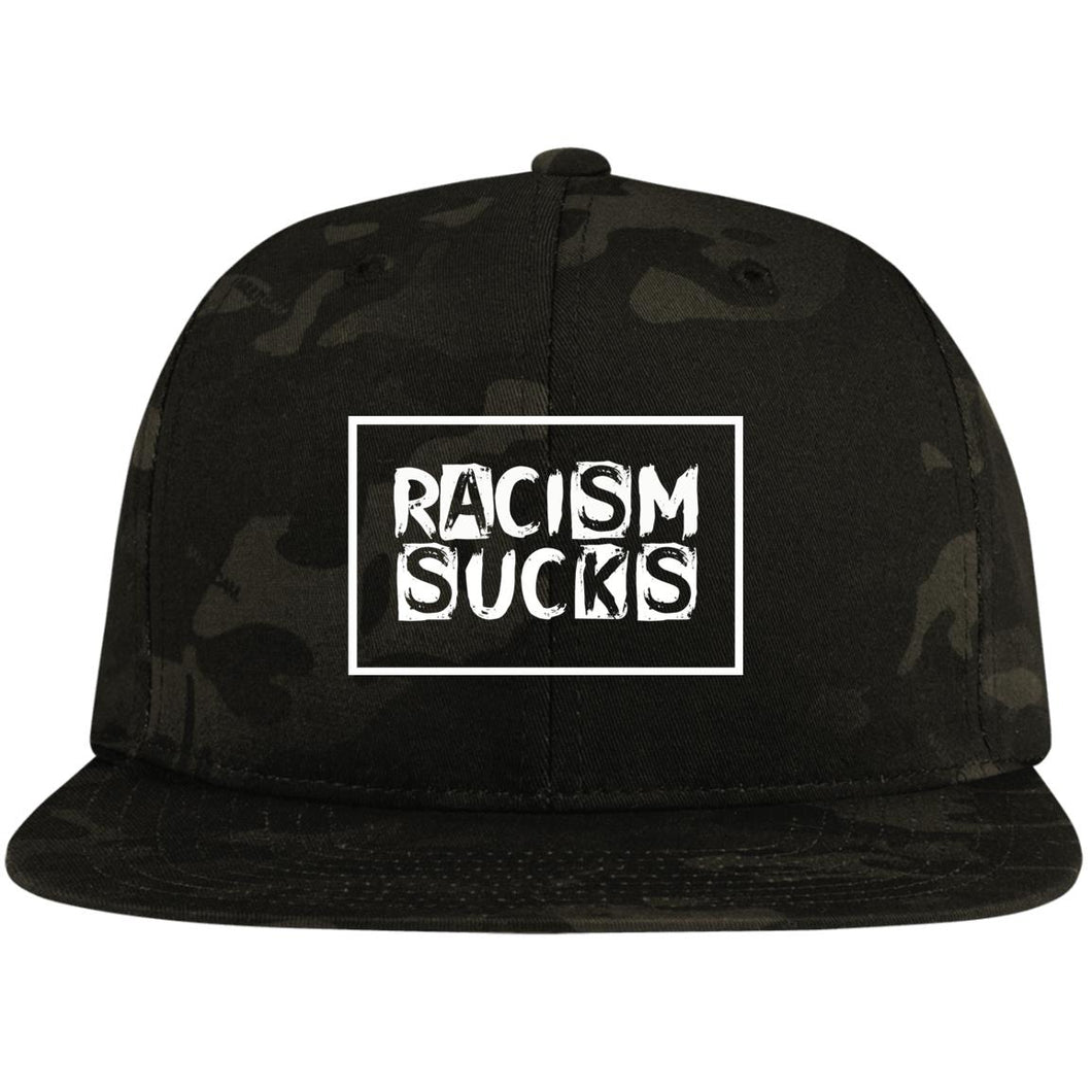 Racism Sucks Street Style Flat Bill High-Profile Snapback Hat