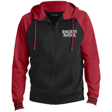 Racism Sucks Men's Sport-Wick® Full-Zip Hooded Jacket