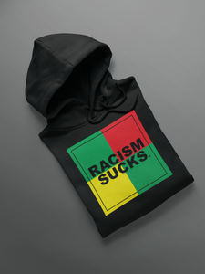 NEW!! Limited Edition Rasta Style Racism Sucks Unisex hoodie
