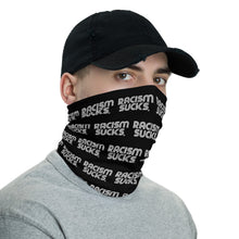 Unisex Racism Sucks Neck Gaiter - Black