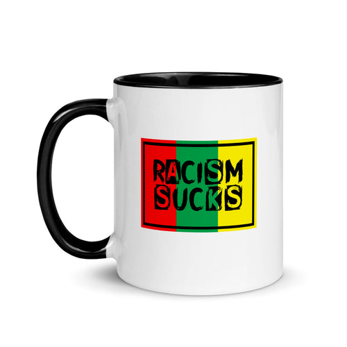 Racism Sucks Rasta Mug with Color Inside