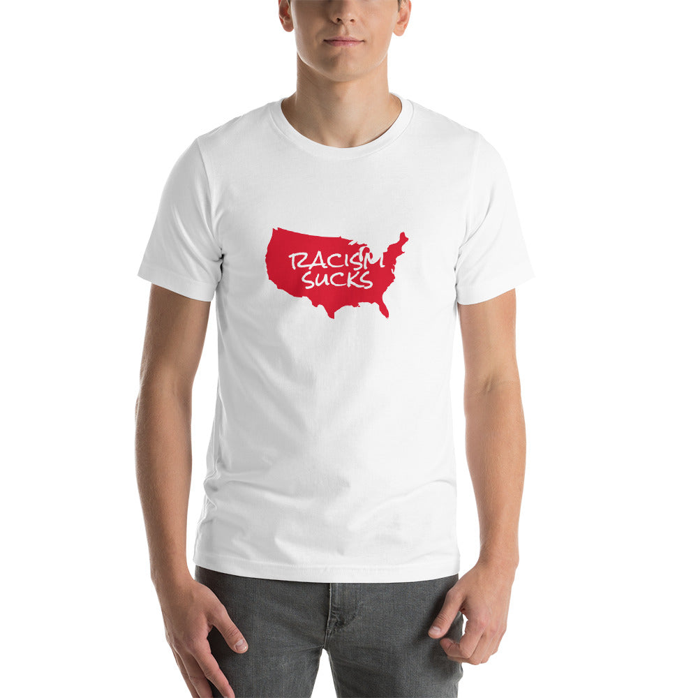 Racism Sucks America - Short-Sleeve Unisex T-Shirt - White