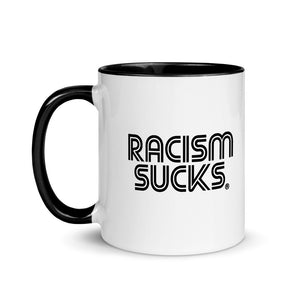 Classic Racism Sucks Mug with Color Inside