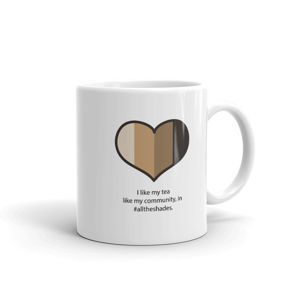 Heart All the Shades Tea Mug