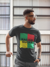 4 Square Rasta Racism Sucks Unisex T-Shirt