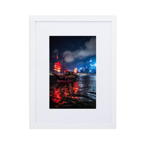 AQUALUNA Posters 12in x 18in (30cm x 45cm) / Europe only - White frame with mat - Thibault Abraham