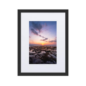 BALI BEACH SUNSET Posters 12in x 18in (30cm x 45cm) / Europe only - Black framed with mat - Thibault Abraham