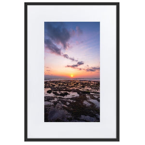 BALI BEACH SUNSET Posters 24in x 36in (61cm x 91cm) / Europe only - Black framed with mat - Thibault Abraham