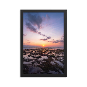 BALI BEACH SUNSET Posters 12in x 18in (30cm x 45cm) / Framed - Thibault Abraham